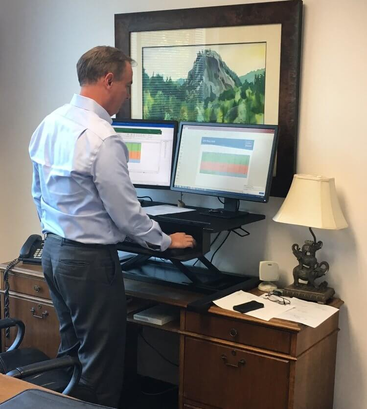 Colliers Birmingham Joins the Stand-up Desk Movement
